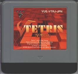 Cartridge artwork for V-Tetris on the Nintendo Virtual Boy.