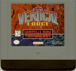 Cartridge artwork for Vertical Force on the Nintendo Virtual Boy.