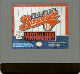 Cartridge artwork for Virtual League Baseball on the Nintendo Virtual Boy.