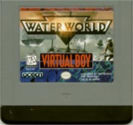 Cartridge artwork for Waterworld on the Nintendo Virtual Boy.