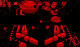 In game image of Galactic Pinball on the Nintendo Virtual Boy.