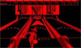 In game image of Nester's Funky Bowling on the Nintendo Virtual Boy.