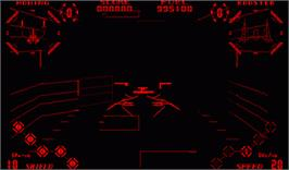 In game image of Red Alarm on the Nintendo Virtual Boy.