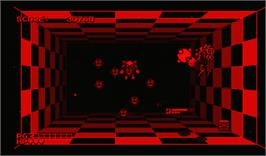 In game image of Space Squash on the Nintendo Virtual Boy.