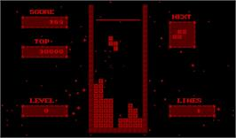 In game image of V-Tetris on the Nintendo Virtual Boy.