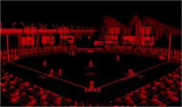 In game image of Virtual League Baseball on the Nintendo Virtual Boy.