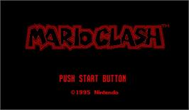 Title screen of Mario Clash on the Nintendo Virtual Boy.