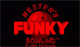 Title screen of Nester's Funky Bowling on the Nintendo Virtual Boy.