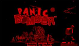 Title screen of Panic Bomber on the Nintendo Virtual Boy.