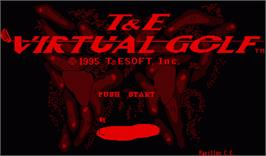Title screen of T&E Virtual Golf on the Nintendo Virtual Boy.