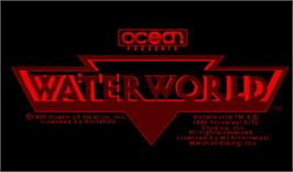 Title screen of Waterworld on the Nintendo Virtual Boy.