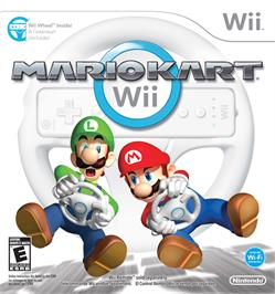 Box cover for Mario Kart Wii on the Nintendo Wii.