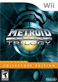 Box cover for Metroid Prime Trilogy on the Nintendo Wii.