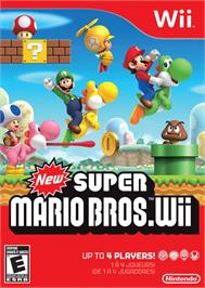 Box cover for New Super Mario Bros. on the Nintendo Wii.