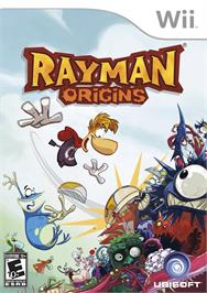 Box cover for Rayman Origins on the Nintendo Wii.