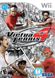 Box cover for Virtua Tennis 4 on the Nintendo Wii.