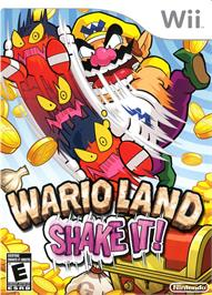 Box cover for Wario Land  - Shake It on the Nintendo Wii.
