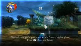 In game image of Alice in Wonderland on the Nintendo Wii.