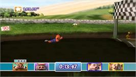 In game image of Athletic Piggy Party on the Nintendo Wii.