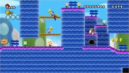 In game image of DU Super Wario Bros on the Nintendo Wii.