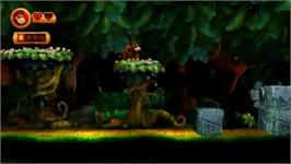 In game image of Donkey Kong Country Returns on the Nintendo Wii.