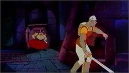 In game image of Dragon's Lair Trilogy on the Nintendo Wii.