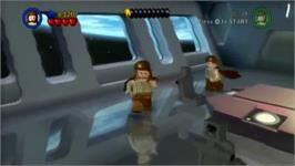 In game image of LEGO Star Wars - The Complete Saga on the Nintendo Wii.