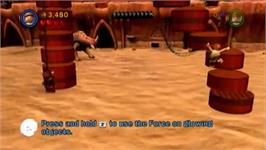 In game image of LEGO Star Wars III - The Clone Wars on the Nintendo Wii.