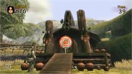 In game image of Link's Crossbow Training on the Nintendo Wii.