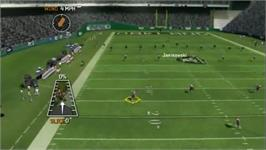 In game image of Madden 07 on the Nintendo Wii.