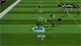 In game image of Madden 10 on the Nintendo Wii.
