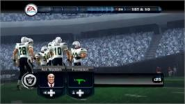 In game image of Madden 11 on the Nintendo Wii.