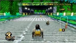 In game image of Mario Kart Black on the Nintendo Wii.
