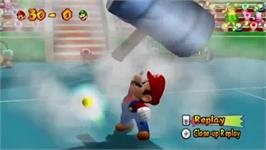 In game image of Mario Power Tennis on the Nintendo Wii.