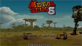 In game image of Metal Slug Anthology on the Nintendo Wii.