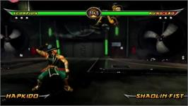 In game image of Mortal Kombat Armaggedon on the Nintendo Wii.