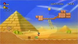 In game image of New Super Mario Bros. on the Nintendo Wii.