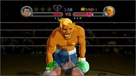 In game image of Punch Out! on the Nintendo Wii.