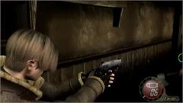 In game image of Resident Evil 4 on the Nintendo Wii.
