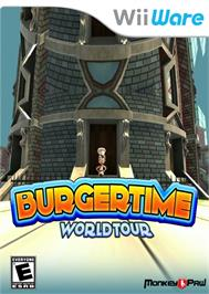 Box cover for BurgerTime World Tour on the Nintendo WiiWare.