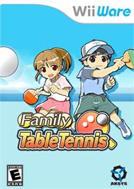 Box cover for Family Table Tennis on the Nintendo WiiWare.