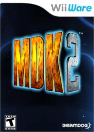 Box cover for MDK2 on the Nintendo WiiWare.