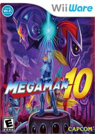 Box cover for Mega Man 10 on the Nintendo WiiWare.