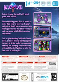 Box back cover for Bejeweled 2 on the Nintendo WiiWare.