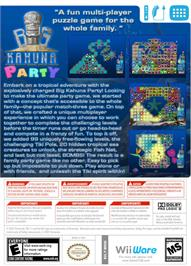 Box back cover for Big Kahuna Party on the Nintendo WiiWare.