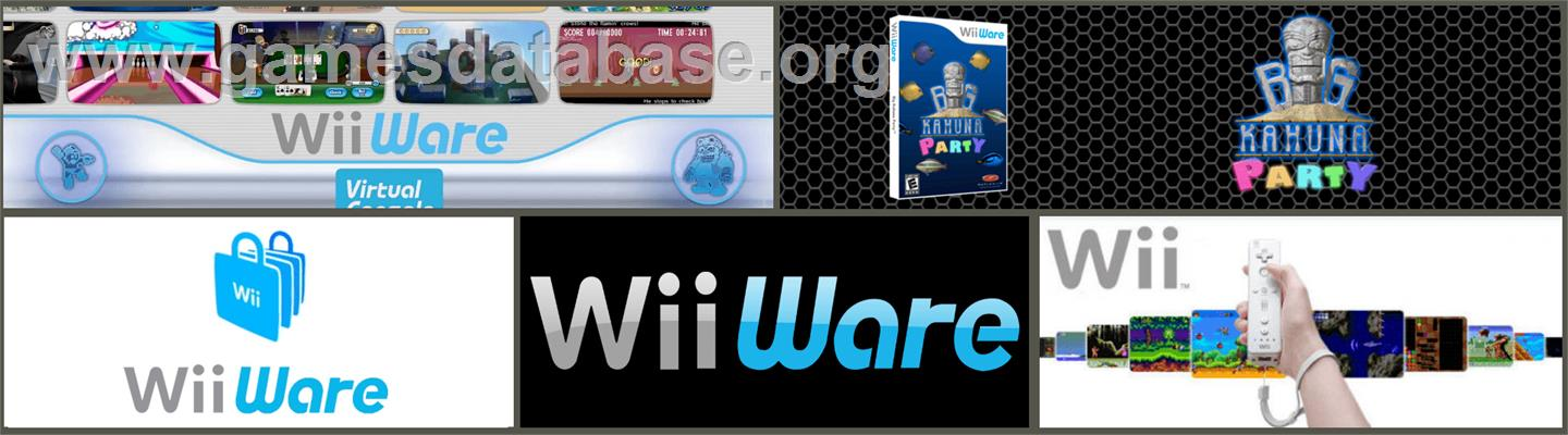 Big Kahuna Party - Nintendo WiiWare - Artwork - Marquee