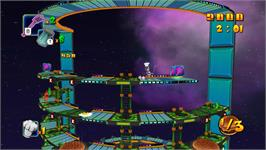 In game image of BurgerTime World Tour on the Nintendo WiiWare.