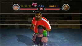In game image of Doc Louiss Punch Out on the Nintendo WiiWare.