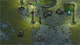 In game image of Dracula - Undead Awakening on the Nintendo WiiWare.