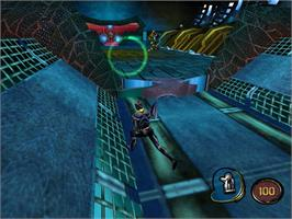 In game image of MDK2 on the Nintendo WiiWare.